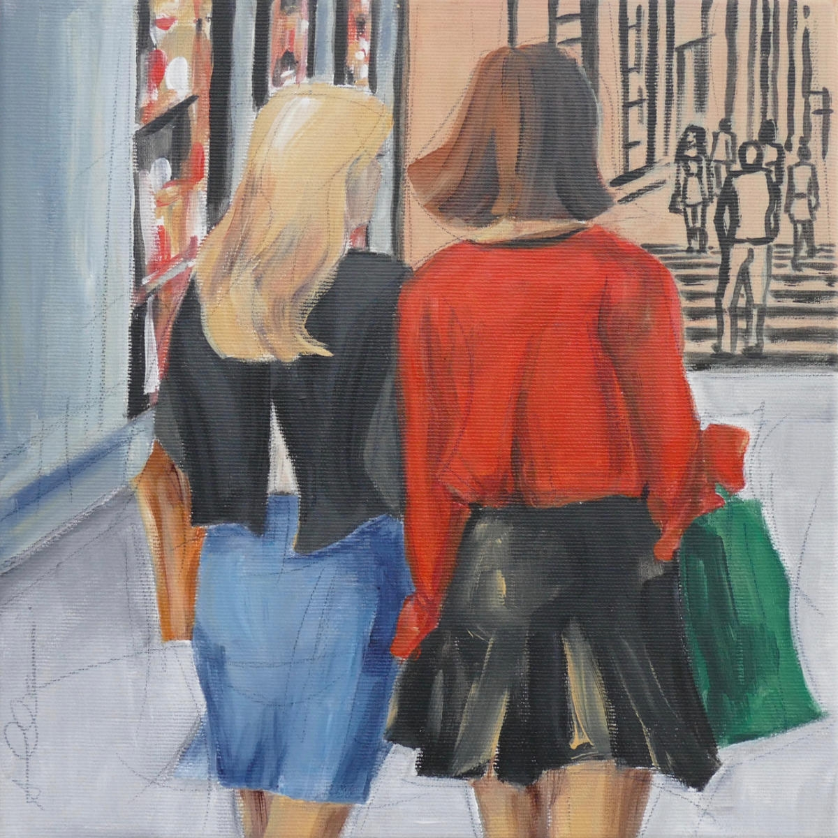 Shoppingtour III 30x30cm