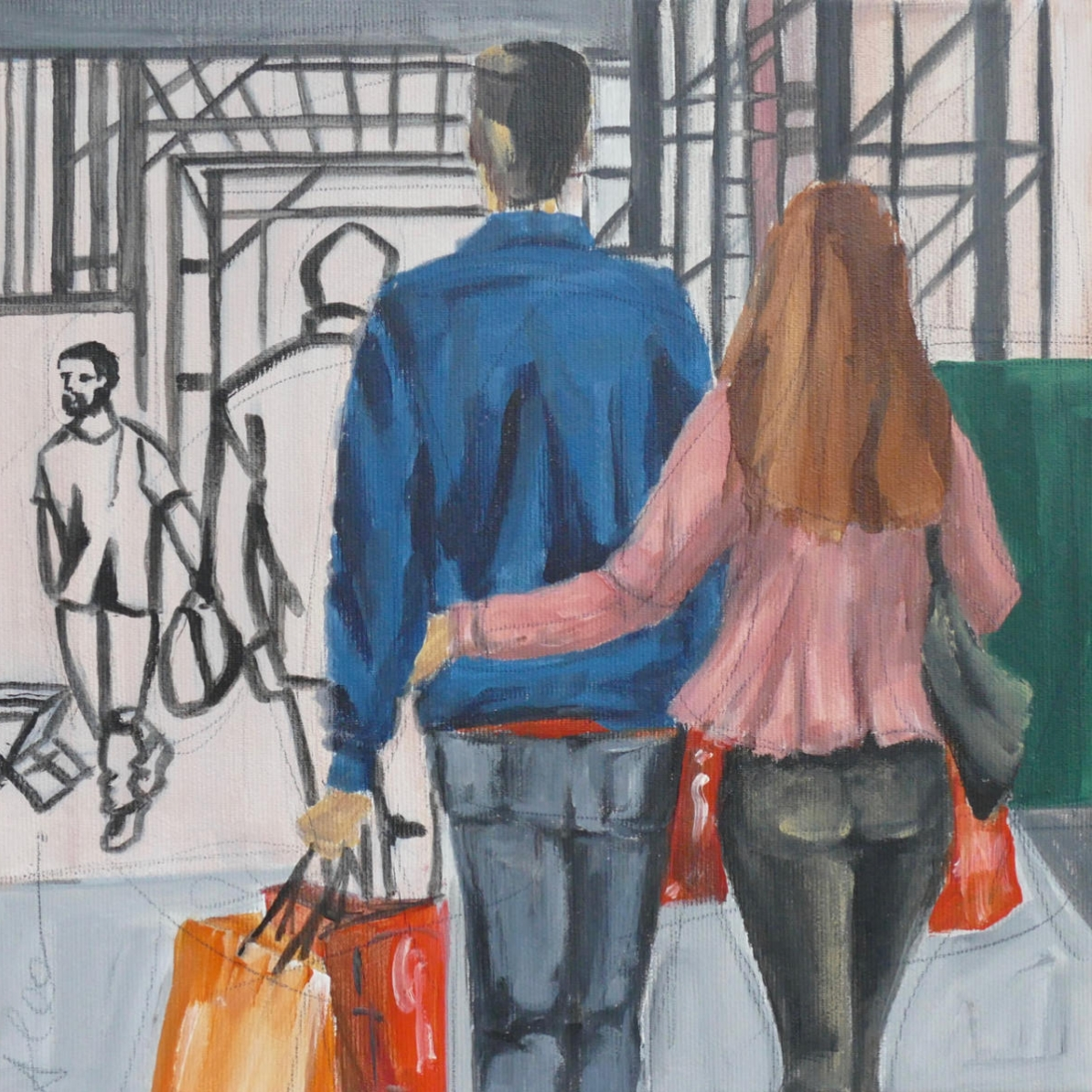 Shoppingtour I 30x30cm