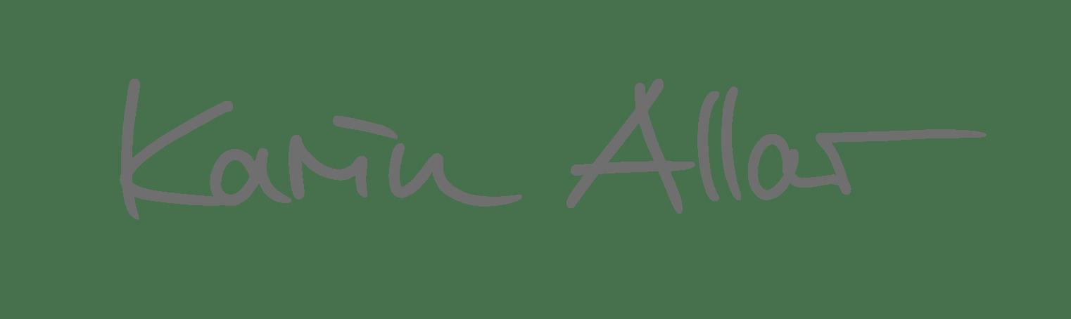 Karin Allar Signatur