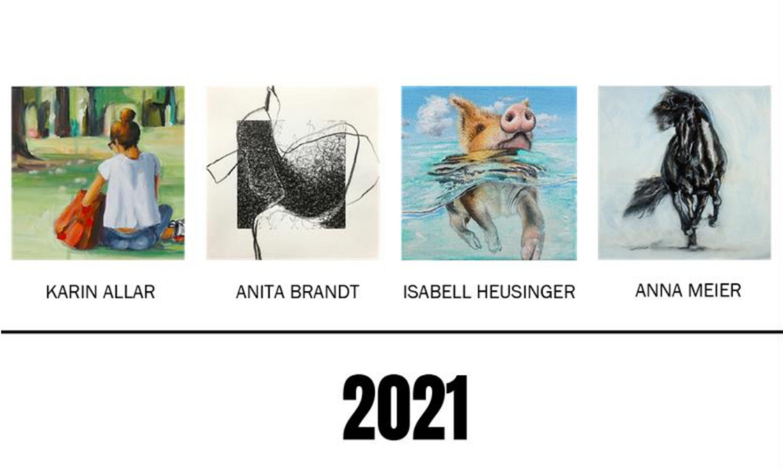 Cover des Jahreskalenders von Karin Allar, Isabell Heusinger, Anna Meier und Anita Brandt